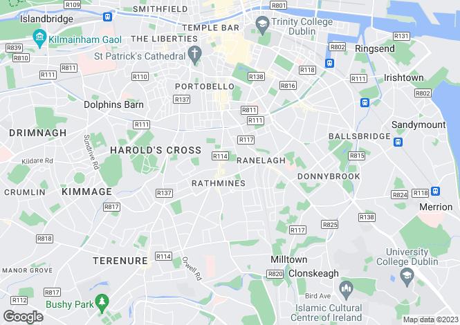 Map for 55 Gulistan Cottages, Rathmines, Dublin 6, D06 X4V9