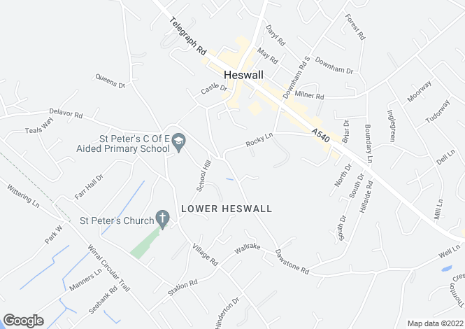 Map for West Hey, Dawstone Road, Heswall