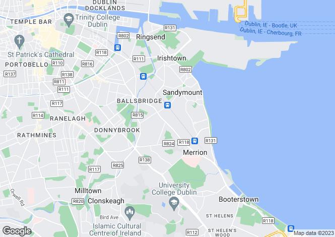 Map for Cascais, Shrewsbury, Ballsbridge, Dublin 4, D04 X0X7