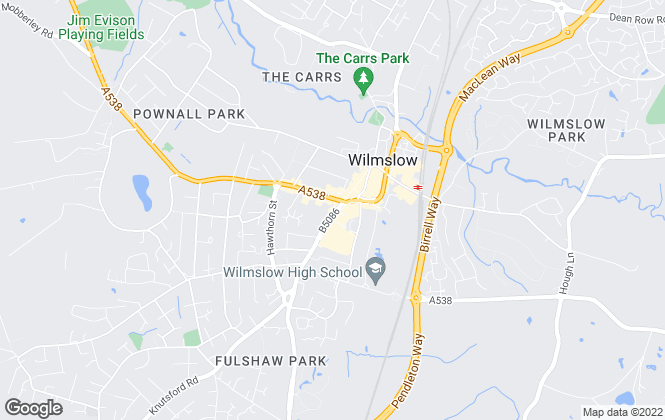 Map for Jordan Fishwick, Wilmslow