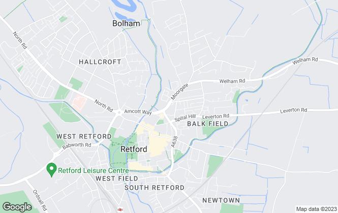 Map for Hunters, Retford