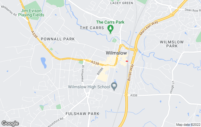 Map for Savills, Wilmslow