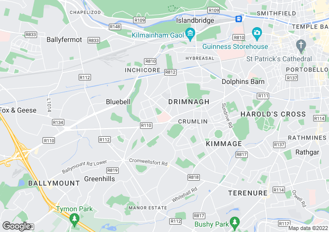 Map for Drimnagh, Dublin