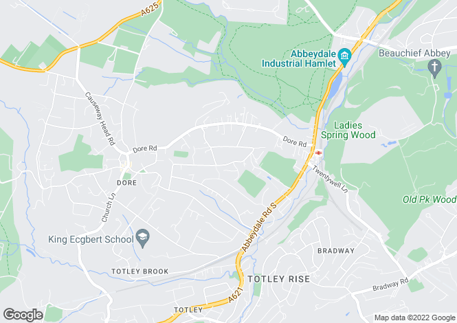 Map for 40, Ashfurlong Road, Dore, Sheffield, South Yorkshire, S17
