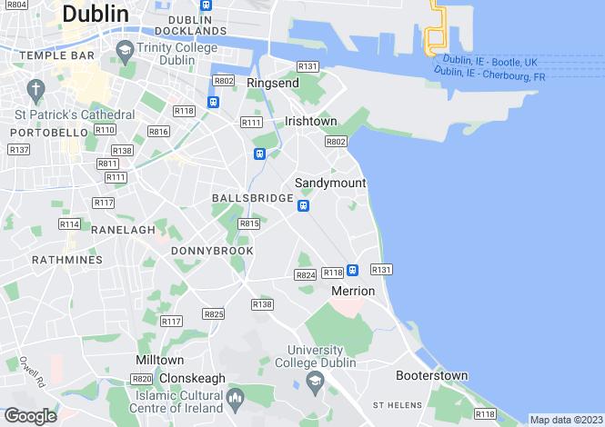 Map for 32 Shrewsbury Square, Ballsbridge, Dublin 4