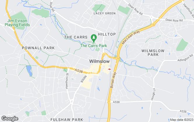 Map for Williams Sillitoe, Cheshire
