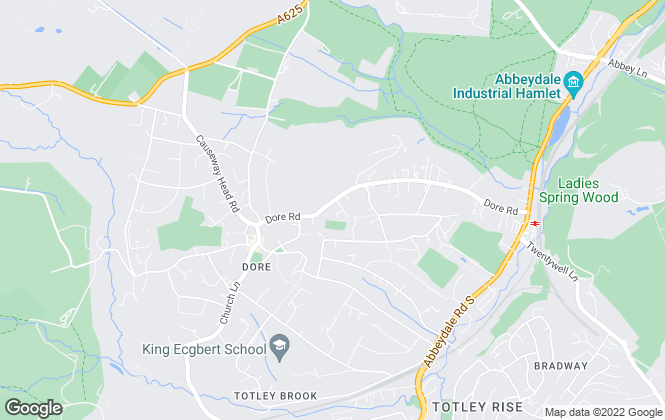 Map for PES Property Rentals, Sheffield
