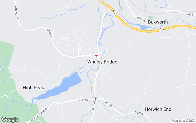 Map for Gascoigne Halman, Whaley Bridge