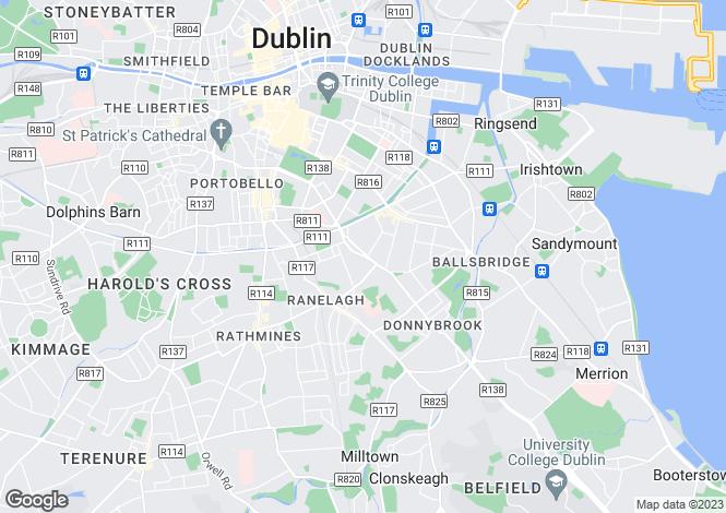 Map for 47 Upper Leeson Street, Donnybrook, Dublin 4