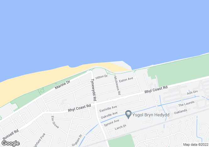 Map for Splash Point - Hilton Drive, Rhyl