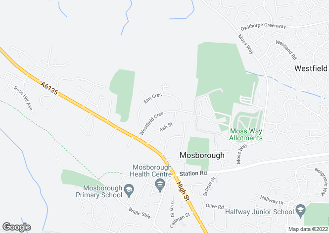 Map for 34 Westfield Crescent, Mosborough, Sheffield