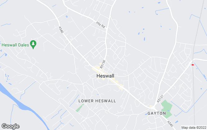 Map for Andrew's Estates, Heswall