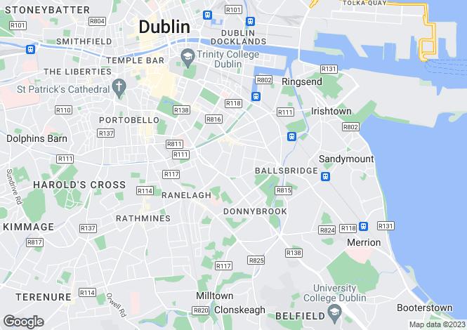 Map for Dublin, Dublin