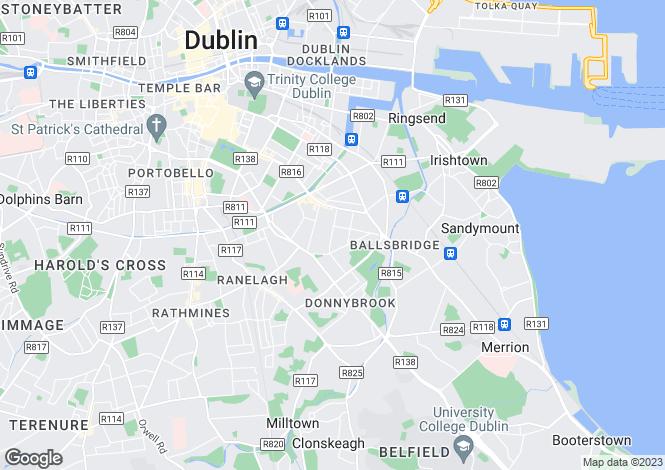 Map for Ballsbridge, Dublin