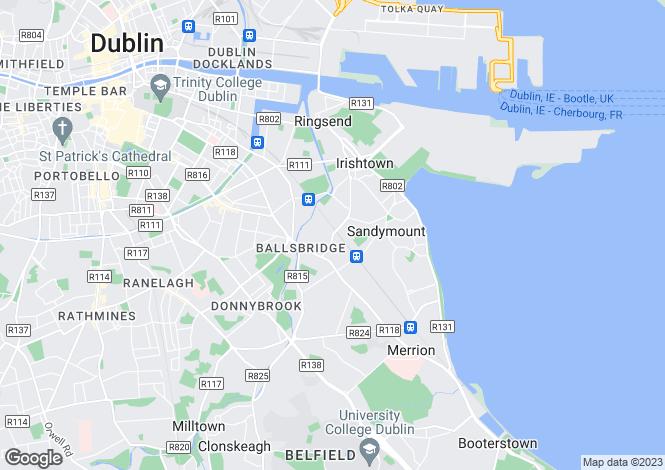 Map for Sandymount, Dublin