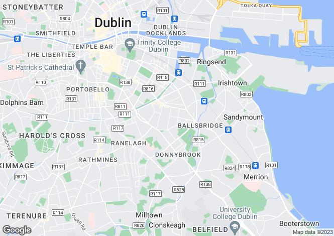 Map for 37 Wellington Road, Ballsbridge, Dublin 4