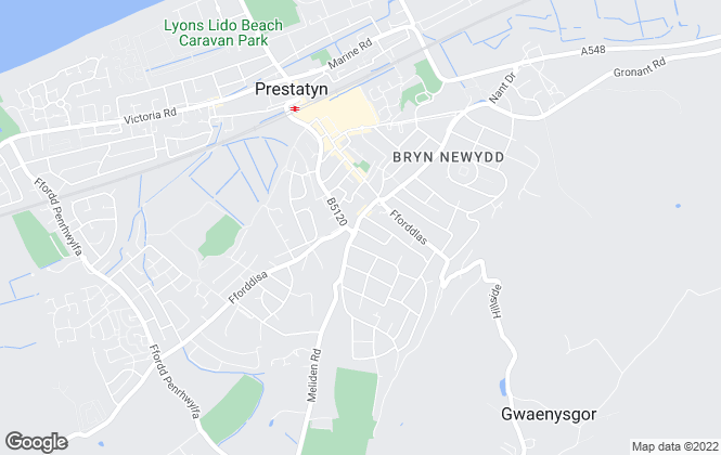 Map for Peter Large Estate Agents, Prestatyn