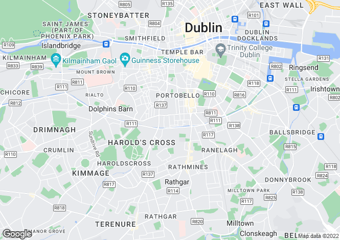 Map for 40 Bloomfield Avenue, Portobello, Dublin 8