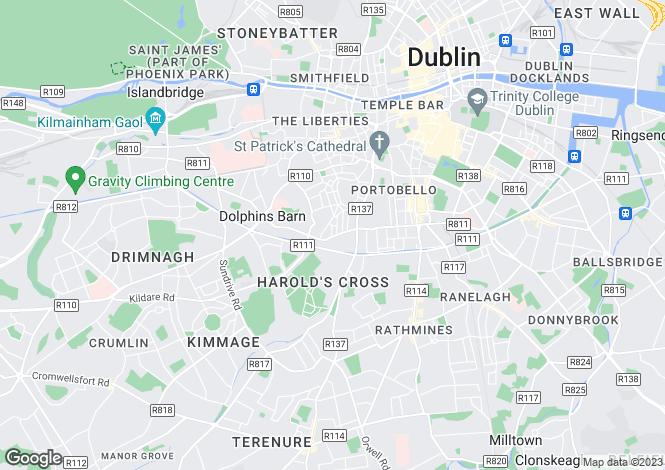 Map for South Circular Road, Dublin 8