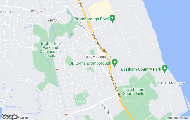 Map for Bradshaw Farnham & Lea, Bromborough