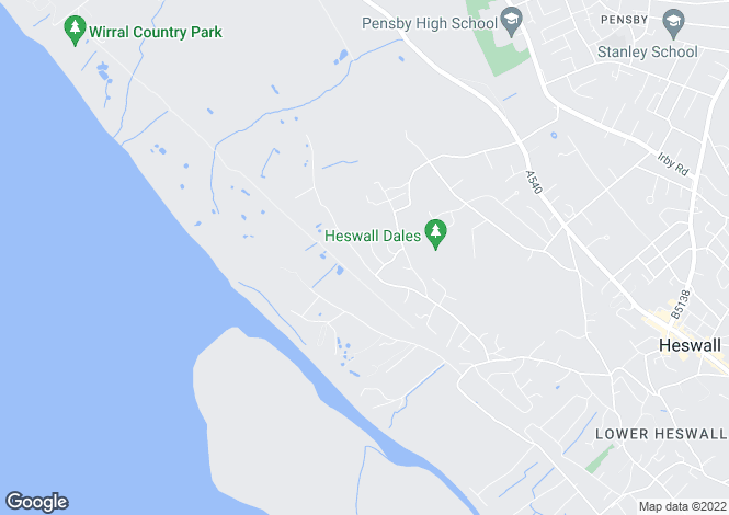 Map for Pipers Lane, Heswall, WIRRAL, Merseyside
