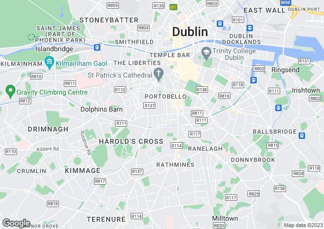 Map for Portobello, Dublin
