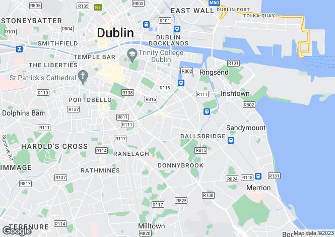Map for 37 Arranmore, Pembroke Road, Ballsbridge, Dublin 4