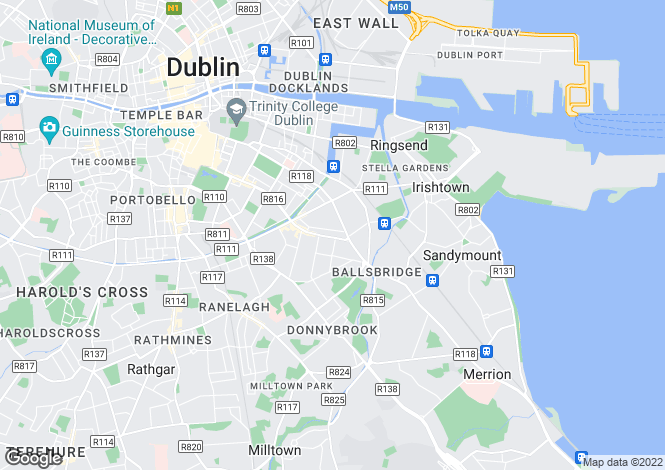 Map for Ballsbridge, Dublin