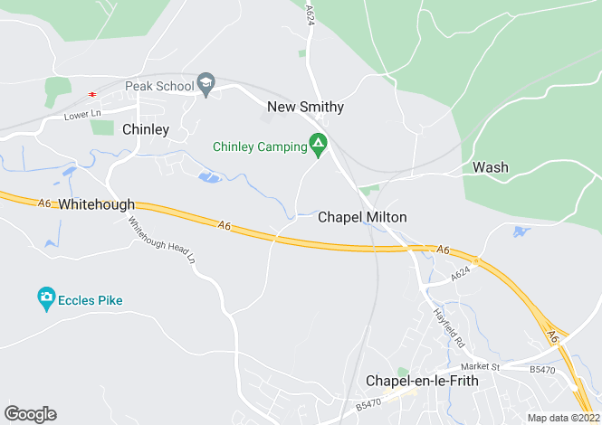 Map for Bridgeholme, Chinley, High Peak, Derbyshire
