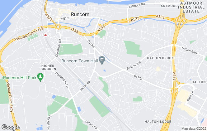 Map for Hunters, Covering Runcorn