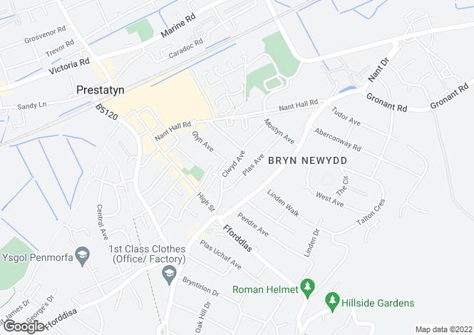 Map for Clwyd Avenue, Prestatyn