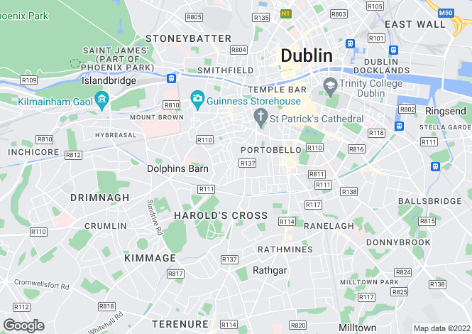 Map for Portobello, Dublin