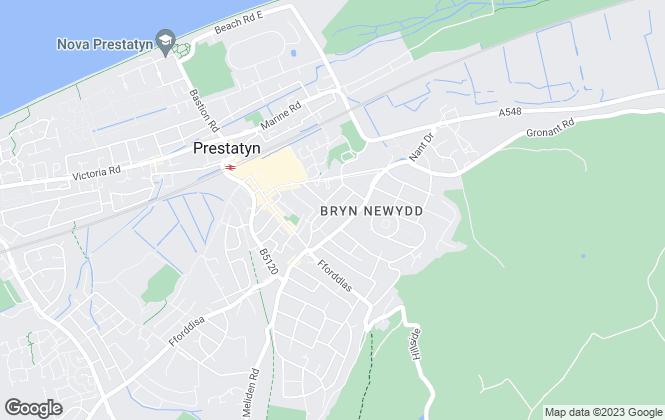 Map for LL Estates, Prestatyn