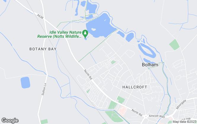 Map for Emerton Lettings & Estates, Retford