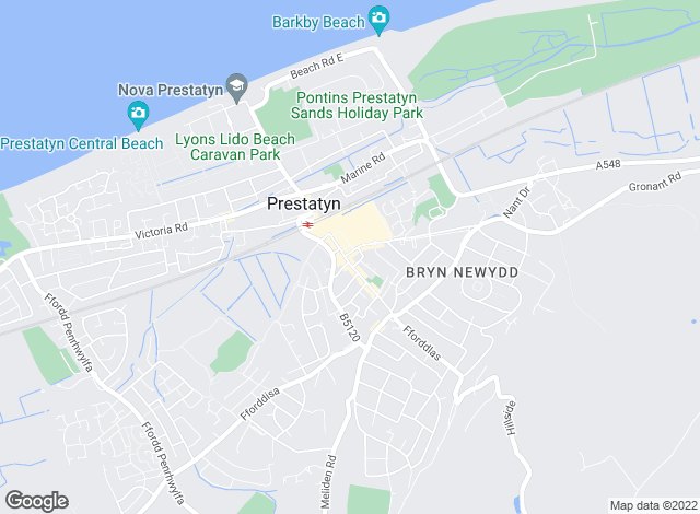 Map for Andrea's Lettings , Prestatyn
