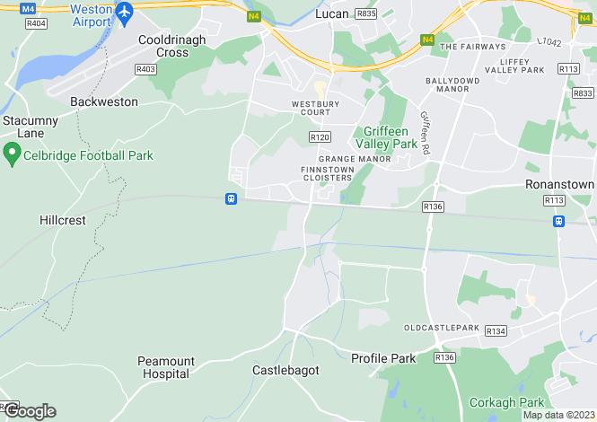 Map for Lucan, Co. Dublin