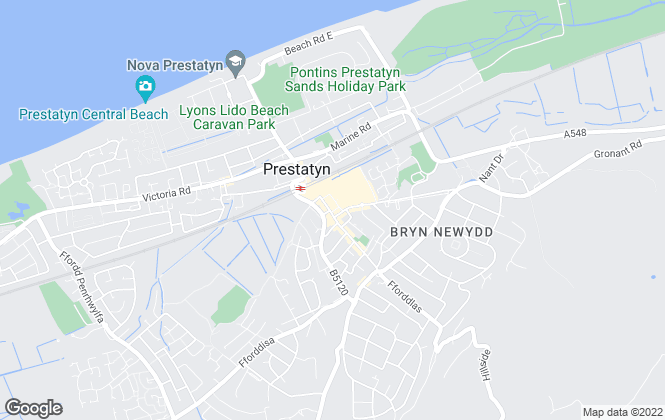 Map for Reeds Rains , Prestatyn
