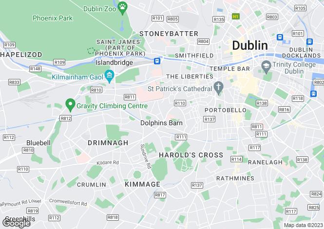 Map for 44 Reuben Street, Rialto,   Dublin 8