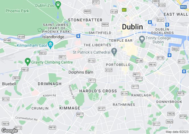 Map for 18 Ebenezer Terrace, Off South Circular Road, Dublin 8, D08 HR4C