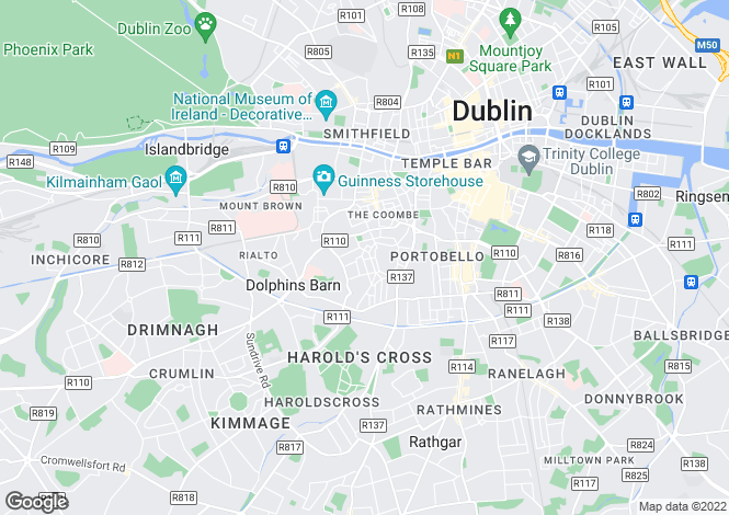 Map for 7 O'Curry Avenue, The Tenters, South Circular Road, Dublin 8, D08 R8Y7