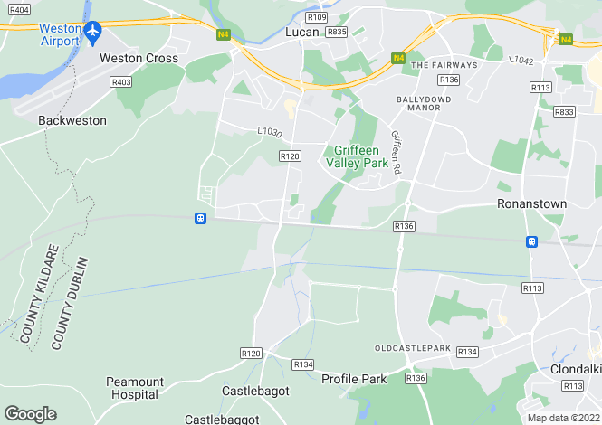 Map for 20 Hansted Way, Lucan, Co. Dublin