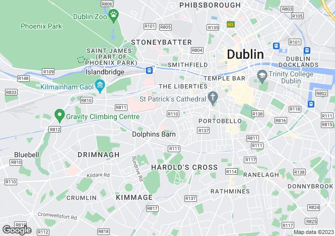 Map for 46 - 47 Cork Street, South City Centre - D8, Dublin 8