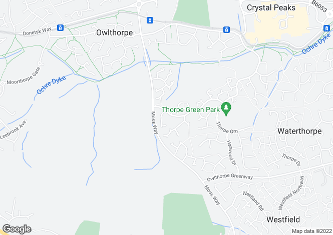 Map for Galley Drive, Waterthorpe, Sheffield S20