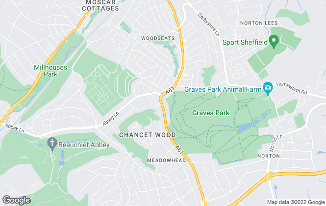 Map for Chadwicks Estate Agents, Sheffield - Sales
