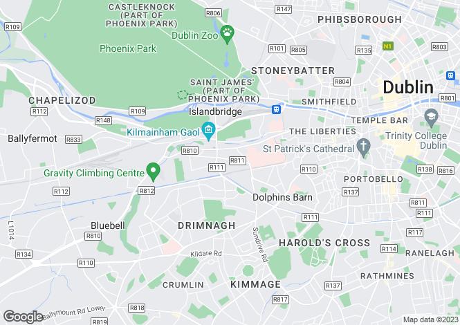 Map for Rialto, Dublin