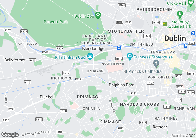 Map for 71 Hybreasal House, South Circular Road, Dublin 8