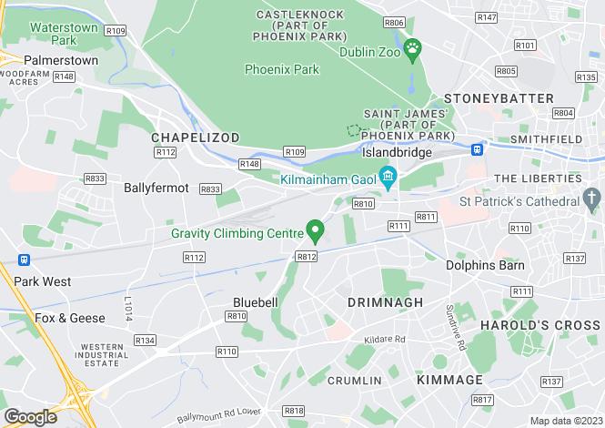 Map for 5 Abercorn Terrace, Inchicore,   Dublin 8