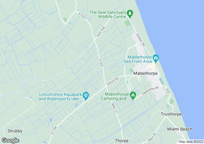 Map for Sherwood Lodge, Theddlethorpe Road, Mablethorpe, LN12