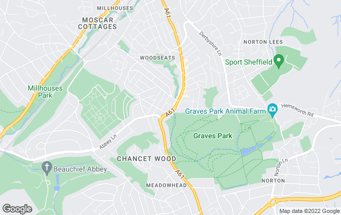 Map for SK Estate Agents, Sheffield
