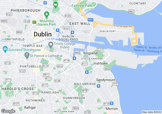 Map for Ringsend, Dublin